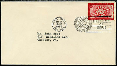 1956 UNITED NATIONS FIRST DAY COVER (5138)