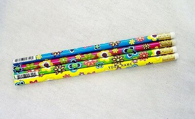 """12  """"Summer Flowers"""" Personalized Pencils"""