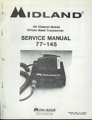 Factory Midland 77-145 40 Channel Mobile Transceiver CB Radio Service Manual