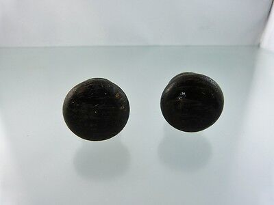 Pair Hardwood Drawer Pulls Black