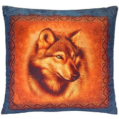 Wolf Face Square Pillow