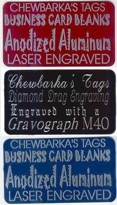 """50 Aluminum Business card blanks Anodized Full color no silver edges 2""""x3.5"""""""