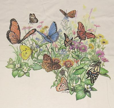 BUTTERFLY GARDEN-Butterflies Flowers Plants Insects Nature Science T shirt S-XXL