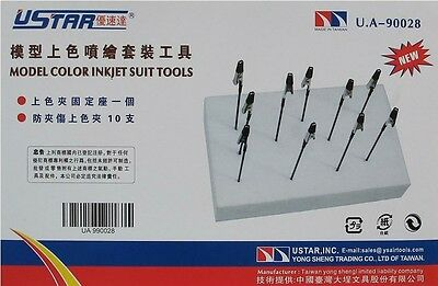 GJJC12 Painting Stand Base and Alligator Clip Model Color Inkjet Suit Tools NEW