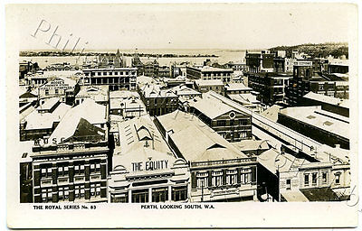 C.1920'S RP NPU POSTCARD PERTH LOOKING SOUTH WA ROYAL SERIES NUMBER 83 b34