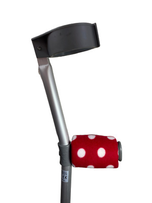 Padded Handle Comfy Crutch Covers - Red Spots