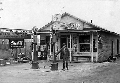 Old Gas Station Vintage Americana Photo CANVAS Print 11x15 070