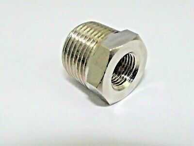 Bsp Male to Female Reducing Bush , Bsp Adaptors Nipple-Socket Brass Nickel Plate