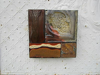 "9"" Pieced Square Ceiling Tin by Lori Daniels in Brown & Tan Colors"