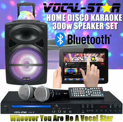 Vocal-Star Vs-800 Mega Deal Hdmi Cdg Usb Karaoke Machine 2 Mics & 1200 Songs