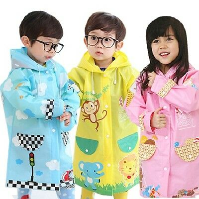 "NEW KIDS ""Hugmii"" Raincoats CUTE 3 Colours/ S M L GREAT PRICE"