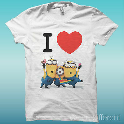 """T-SHIRT DONNA /"""" MINIONS WITH STUPID FUNNY /"""" ROAD TO HAPPINESS IDEA REGALO"""