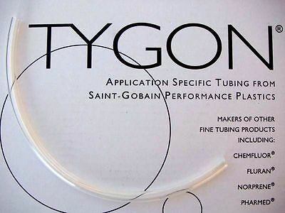 "Tygon 2375 tubing 12"" Clear Brake Reservoir Hose 6mm ID 30cm length 1/4"" TBE.001"