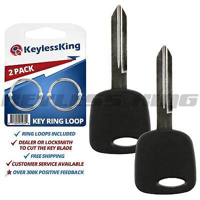 2 New Replacement Uncut Ignition Key Blank Chipped with Chip for H72-PT 4C