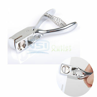 Hand Held Slot Hole Metal Steel Puncher Punch for ID Card Badge PVC Photo Tag