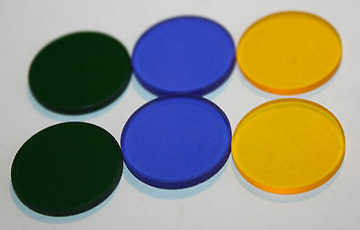 set of 6 Nikon microscope filters in container