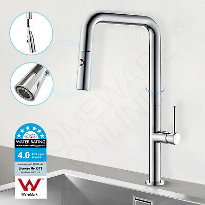 Luxury Chrome Kitchen Sink Pull Out Faucet Swivel Spray Vanity Basin Mixer Tap