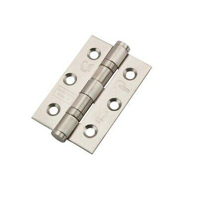 Eclipse 14852 Ball Bearing Butt Hinge 76x51mm Satin Stainless Steel (Pair)