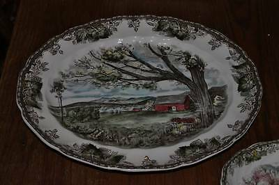 Vintage Johnson Brothers Friendly Village Serving Pieces Lot of 3