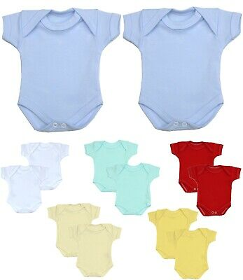 BabyPrem Baby Clothes 2 Pack Premature Prem Preemie Bodysuits Vests One Piece