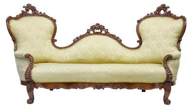 19Th Century Carved Mahogany Victorian Sofa