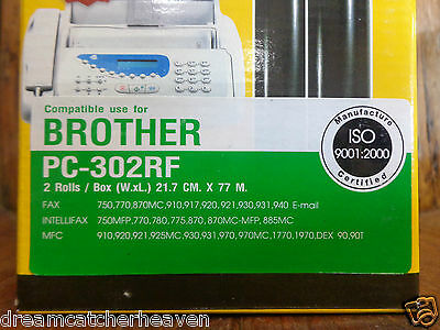 Brother Fax Machine Pc302Rf Replacement Rolls Comax Brand 2 Rolls In A Box