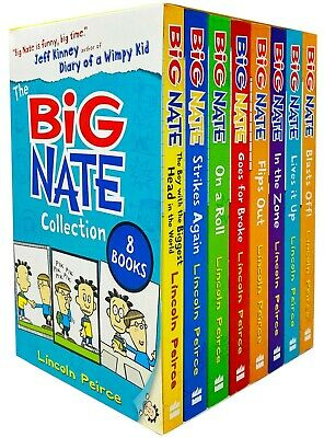 Big Nate Series Collection Lincoln Peirce 10 Books Box Set Pack Makes the Grade