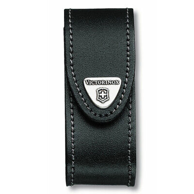"""Swiss Army Knife 2 - 4 Layer  """"black Leather Pouch Victorinox Free Postage 05690"""