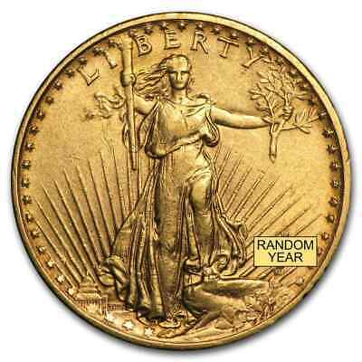 $20 Saint-Gaudens Gold Double Eagle Pre-33 Gold Coin - Random Year - Extra Fine