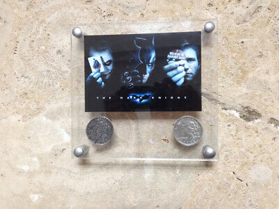 Batman, Dark Knight, Two-Face's Double Sided Coins with Designer Acrylic Frame