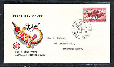 Fdc  5/ Cattle 26/jul/61 Wcs  Nice Condition