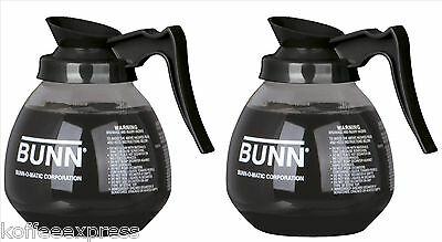 Coffee Pot Decanter BUNN 64oz Commercial Case of 2 Pots & 100 free filters cf12