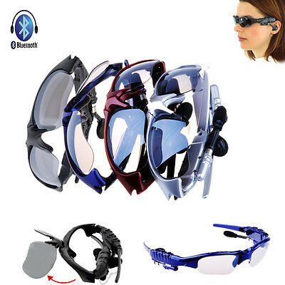 Wireless Bluetooth Sunglasses Headset Headphone For Samsung Galaxy S5 S4 Note3 2