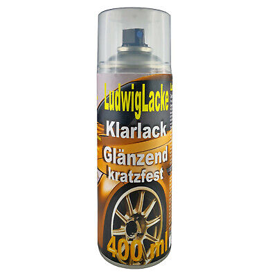 KLARLACK 1 Spraydose  GLÄNZEND  Autolack 400ml Made in Germany