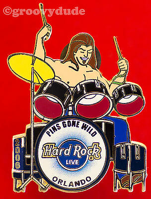 Hard Rock Cafe Live Orlando 2006 Pins Gone Wild Drummer Boy Drum Set HRC Le 300