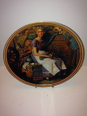 Knowles Collector Plate: Dreaming in the Attic by Norman Rockwell, 8.5""