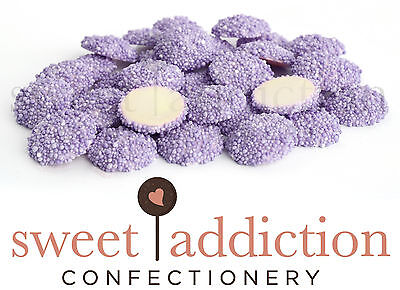 750g Purple Speckles on White Chocolate - Party Buffet Freckles AUSTRALIAN MADE
