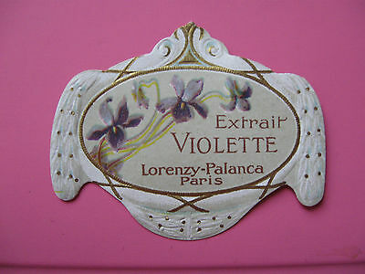 1 Ancienne Etiquette Parfum Extrait Violette/antique Perfume Label French Paris