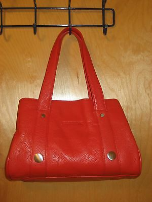 NWT kate spade new york red leather handbag purse clutch sac rouge
