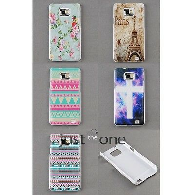 NEW for Samsung Galaxy S2 i9100 Stylish Patterm Back Skin Case Cover Protector
