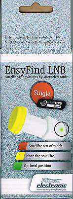Microelectronic Easyfind HD Digital Universal Single LNB 0.1dB Easy Find Comag
