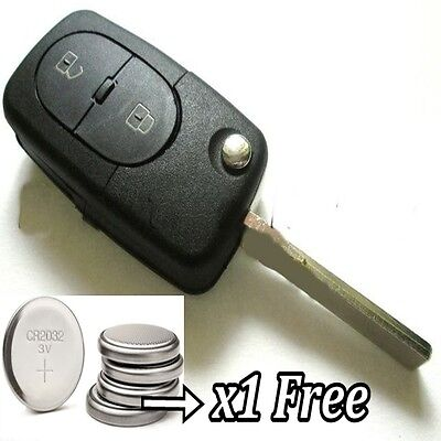 2 Button Key Remote Case Fob for Audi A1 A2 A3 A4 A5 A6 Q5 Q7 TT RS R8 S3 cr2032