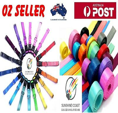 Quick Release Double Lock Dog Collar Safe Soft Strong Xs S M L Xl 20 Colours