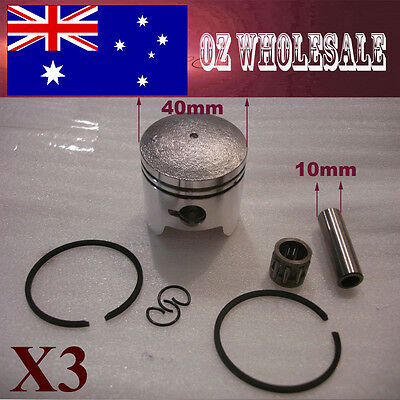 3X 40mm Piston Rings 43 49cc 2 Stroke Mini Dirt PIT Quad Bike ATV Pocket Scooter