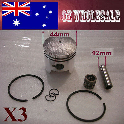 3X 44mm Piston Rings 47 49cc 2 Stroke Mini Dirt PIT Quad Bike ATV Pocket Scooter