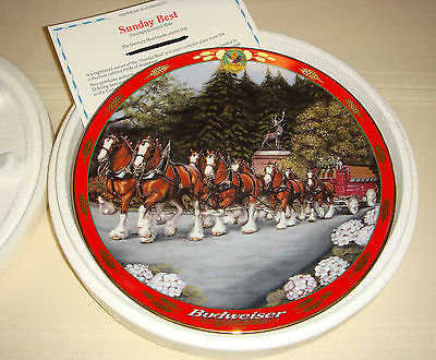 SUSIE MORTON Budweiser Pride Clydesdale Horse Silk-Haired Legs SUNDAY BEST Plate