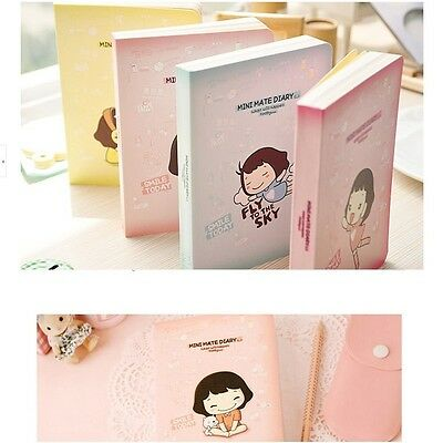 """""""Smile Today"""" Cute Pocket Diary Study Planner Journal Notebook Scheduler Gift"""