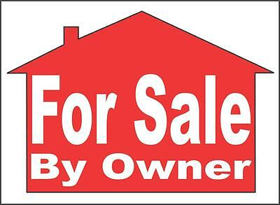 "For Sale House Window Decal - By Owner - 22""x15"" [Large 103]"