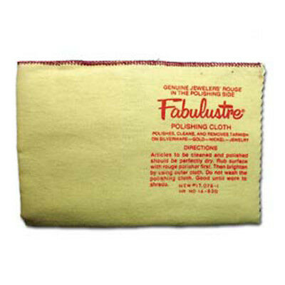 Fabulustre Cleaning & Polishing Double Sided Cloth for silver, gold, etc