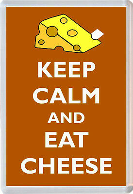 Keep Calm and Eat Cheese - Jumbo Fridge Magnet Novelty Gift/Present
